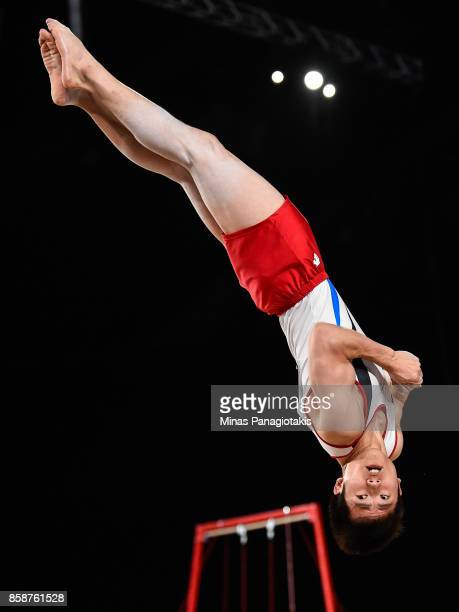 Hansol Kim of Republic of Korea competes on the floor exercise during the individual apparatus finals of the Artistic Gymnastics World Championships...