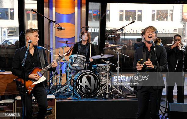 AMERICA Hanson performs live on 'Good Morning America' 6/17/13 airing on the ABC Television Network on the ABC Television Network HANSON