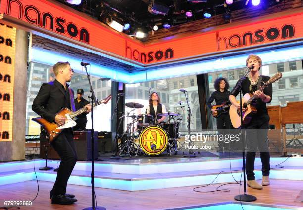 AMERICA Hanson performs live on 'Good Morning America' on Friday May 5 2017 airing on the ABC Television Network HANSON
