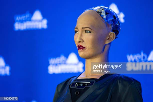 Hanson Robotics, Sophia, the female robot is presented during the day 3 of the annual Web Summit technology conference in Lisbon.