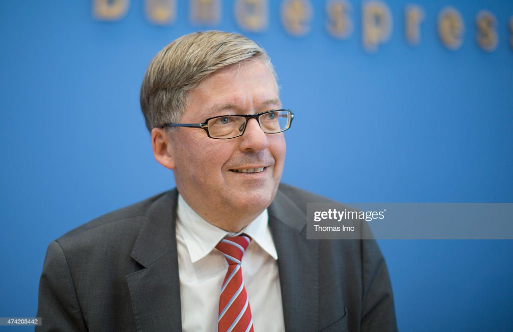 Hans-Peter Bartels, SPD, Bundestag-appointed Commissioner for the Bundeswehr, during a press conference, on May 21, 2015 in Berlin, Germany.