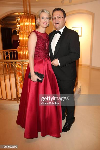 HansPeter Friedrich and his partner Diana Troglauer during the 67th Bundespresseball at Hotel Adlon on November 23 2018 in Berlin Germany