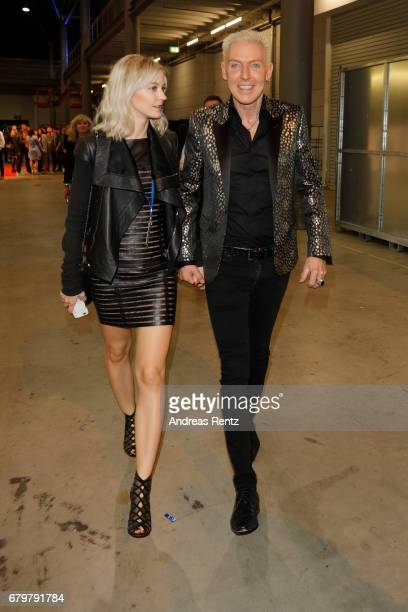 HansPeter Geerdes aka HP Baxxter and his girlfriend Lysann Geller attend the after show during the finals of the tv competition 'Deutschland sucht...