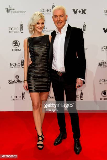 Hans-Peter Geerdes, HP Baxxter and Lysann Geller on the red carpet during the ECHO German Music Award in Berlin, Germany on April 06, 2017.