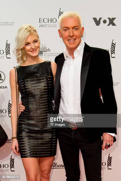 HansPeter Geerdes HP Baxxter and Lysann Geller on the red carpet during the ECHO German Music Award in Berlin Germany on April 06 2017