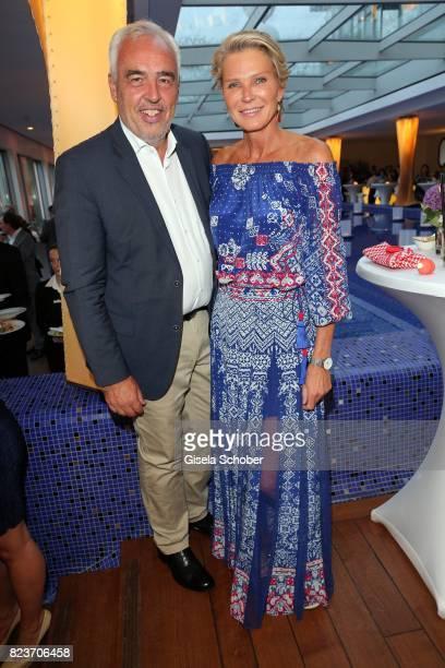 HansReiner Schroeder and Countess Stephanie von Pfuel during the summer party of and at Hotel Bayerischer Hof on July 27 2017 in Munich Germany