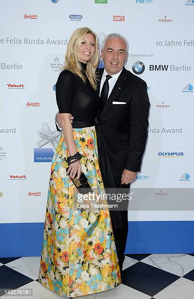 HansReiner Schroeder and Katerina Schroeder attend the Felix Burda Award Gala 2012 at Hotel Adlon on April 22 2012 in Berlin Germany
