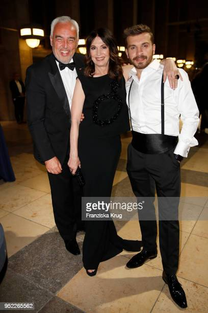 HansReiner Schroeder Iris Berben and Edin Hasanovic during the Lola German Film Award Party at Palais am Funkturm on April 27 2018 in Berlin Germany