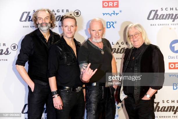 HansTimm Hinrichsen Axel Stosberg Bjoern Both and Peter David Sage from the band 'Santiano' during the television show 'Schlagerchampions Das grosse...
