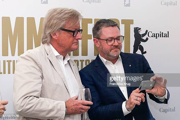 HansUlrich Joerges and Christian Krug attend the STERN And CAPITAL Summer Party on June 16 2015 in Berlin Germany