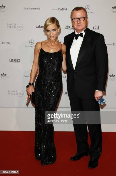 HansUlrich Joerges and Christiane Gerboth attend the Bundespresseball at Hotel Intercontinental on November 25 2011 in Berlin Germany