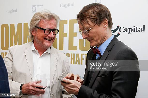 HansUlrich Joerges and Karl Lauterbach attend the STERN And CAPITAL Summer Party on June 16 2015 in Berlin Germany