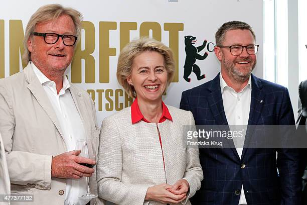 HansUlrich Joerges Ursula von der Leyen and Christian Krug attend the STERN And CAPITAL Summer Party on June 16 2015 in Berlin Germany