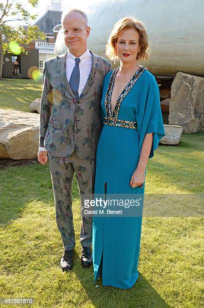 HansUlrich Obrist and Julia PeytonJones attend The Serpentine Gallery Summer Party cohosted by Brioni at The Serpentine Gallery on July 1 2014 in...
