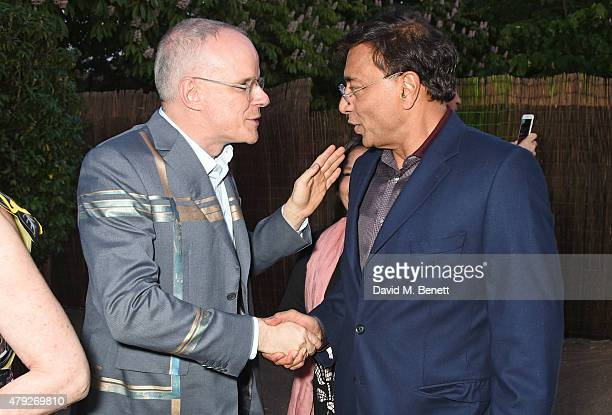 HansUlrich Obrist and Lakshmi Mittal attend The Serpentine Gallery summer party at The Serpentine Gallery on July 2 2015 in London England