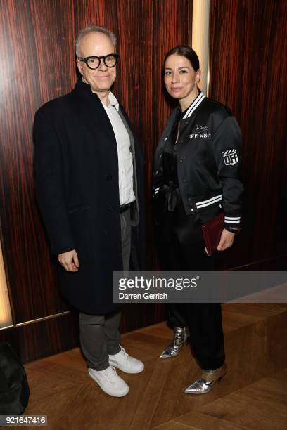 HansUlrich Obrist and Yana Peel attend Murakami Abloh Future History at Gagosian Gallery Davies Street on February 20 2018 in London England