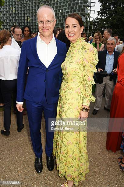HansUlrich Obrist and Yana Peel attend The Serpentine Summer Party cohosted by Tommy Hilfiger on July 6 2016 in London England