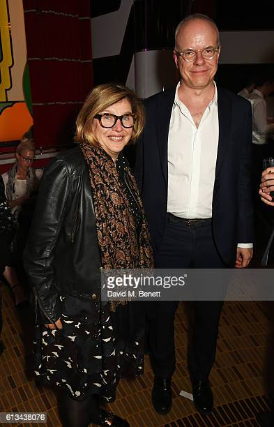 HansUlrich Obrist attends the Frieze Magazine 25th anniversary dinner at Brasserie Zedel on October 7 2016 in London England