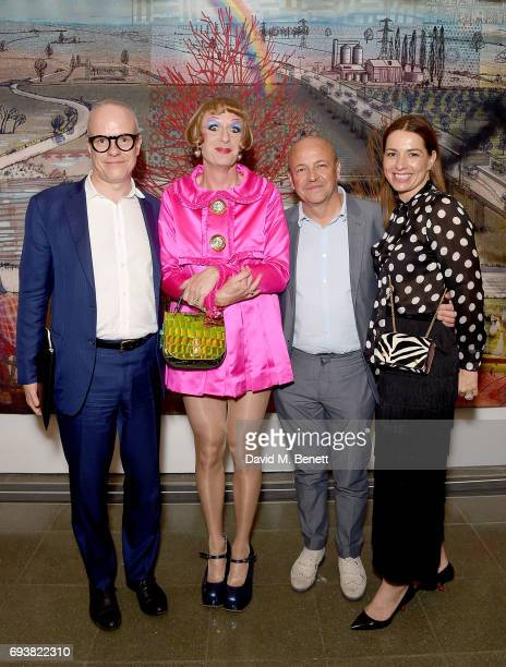 HansUlrich Obrist Grayson Perry Thierry Andretta and Yana Peel attend Mulberry's Special Private View of Grayson Perry's 'The Most Popular Art...