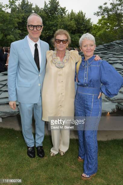 HansUlrich Obrist Lady Elena Ochoa Foster and Maria Balshaw attend The Summer Party 2019 presented by Serpentine Galleries Chanel and hosted by...