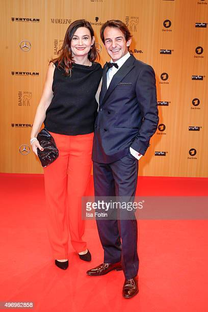 HansWerner Meyer and his wife Jacqueline Macaulay attend the Kryolan At Bambi Awards 2015 Red Carpet Arrivals on November 12 2015 in Berlin Germany