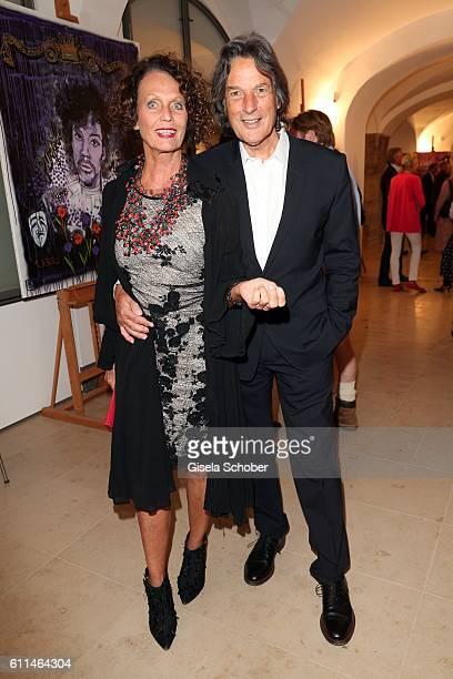 HansWilhelm MuellerWohlfahrt and his wife Karin MuellerWohlfahrt Karen Lakar during the 'Bergonzoli in Bavaria' exhibition opening at Bayerisches...