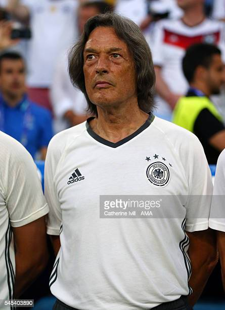 HansWilhelm MullerWohlfahrt the doctor for Germany during the UEFA Euro 2016 semi final match between Germany and France at Stade Velodrome on July 7...