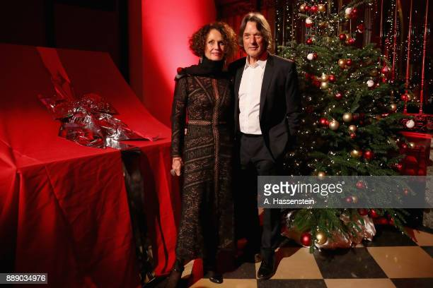 HansWilhlem MuellerWohlfahrt team doctor of FC Bayern Muenchen arrives with his wife at Palais Lenbach for the FC Bayern Muenchen Christmas Party...