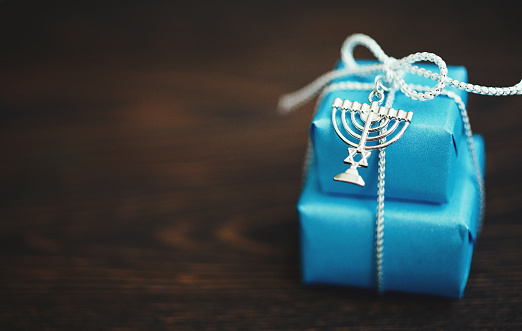 Hanukkah Background with Gifts 1193422189