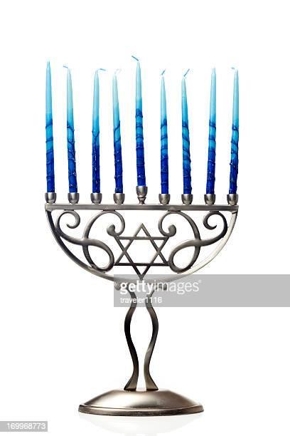 hanukkah menorah - menorah bildbanksfoton och bilder