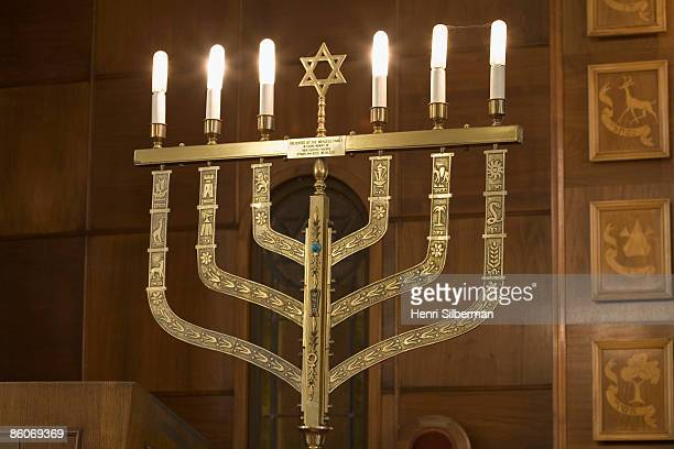 hanukkah menorah - symbolism stock pictures, royalty-free photos & images