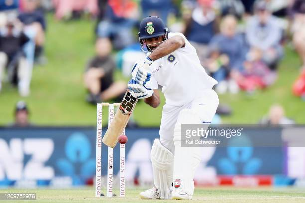 Hanuma Vihari of India bats during day three of the Second Test match between New Zealand and India at Hagley Oval on March 02, 2020 in Christchurch,...