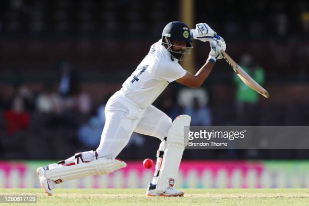 Hanuma Vihari of India bats during day two of the Tour Match between Australia A and India at Sydney Cricket Ground on December 12, 2020 in Sydney,...
