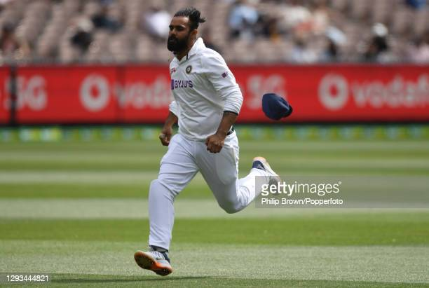 Hanuma Vihari of India chases the ball during day three of the Second Test match between Australia and India at Melbourne Cricket Ground on December...