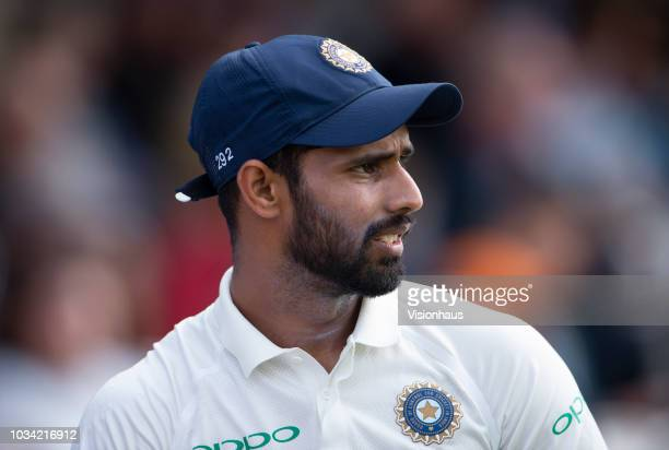 Hanuma Vihari of India during the 5th Specsavers Test Match between England and India at The Kia Oval on September 9, 2018 in London, England.