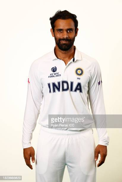 Hanuma Vihari of India poses during the ICC World Test Championship Final India Portrait session at The Ageas Bowl on June 15, 2021 in Southampton,...