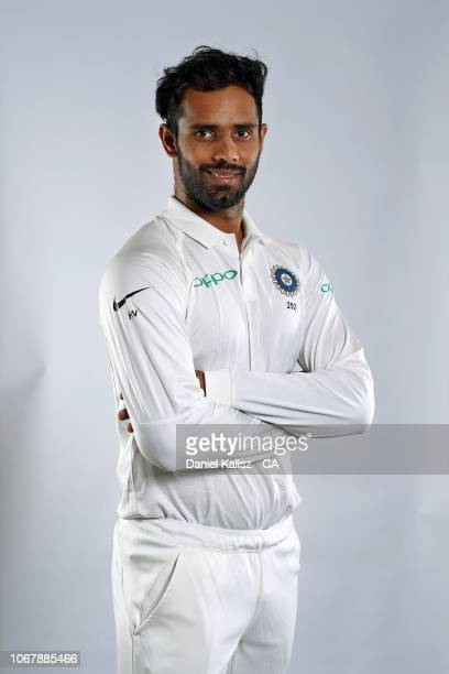 Hanuma Vihari of India poses during the India Test squad headshots session at Adelaide Oval on December 3, 2018 in Adelaide, Australia.