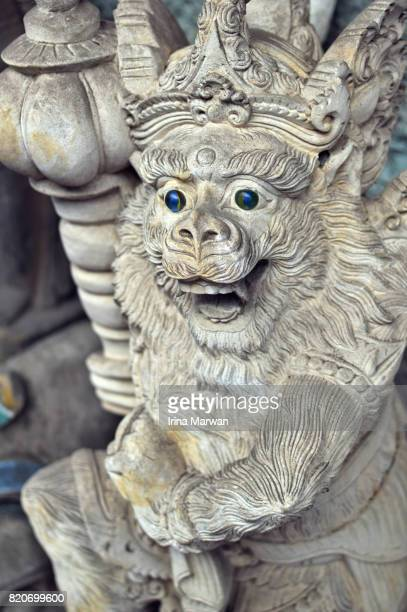 Hanuman Statue with Marble Eyes