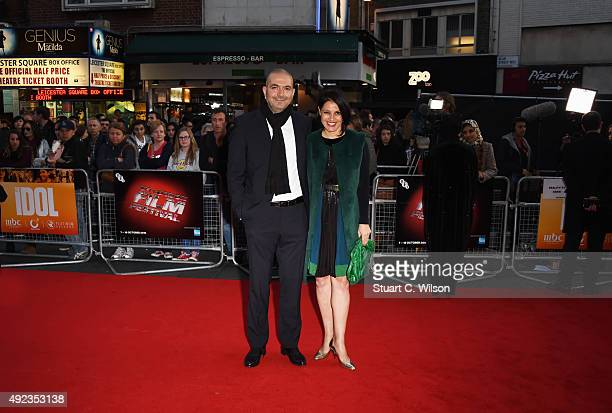 Hany AbuAssad and Amire Diab attend 'The Idol' Sonic Gala In Association With MOBO Film during the BFI London Film Festival at Vue Leicester Square...
