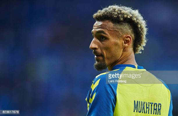Hany Mukhtar of Brondby IF looks on during the UEFA Europa League Qual match between Brondby IF and Hajduk Split at Brondby Stadion on July 27 2017...