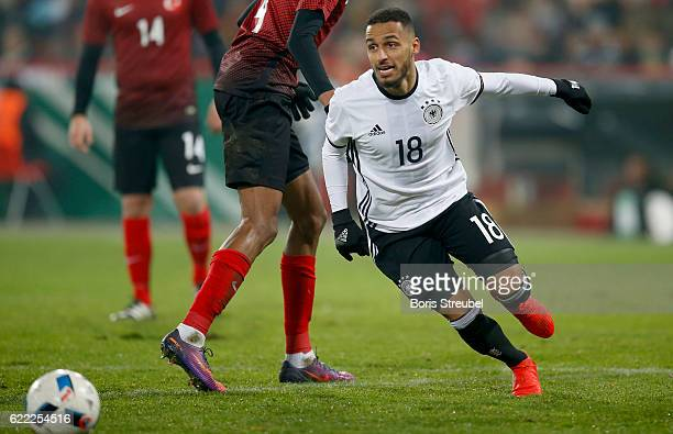 Hany Mukhtar of Germany runs with the ball during the U21 International Friendly match between U21 Germany and U21 Turkey at Stadion An der Alten...