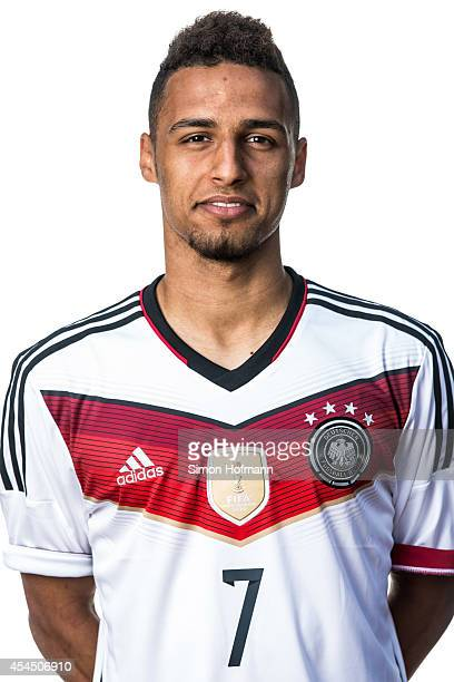 Hany Mukhtar poses during the team presentation of U20 Germany at Waldstadion on September 2 2014 in Homburg Germany