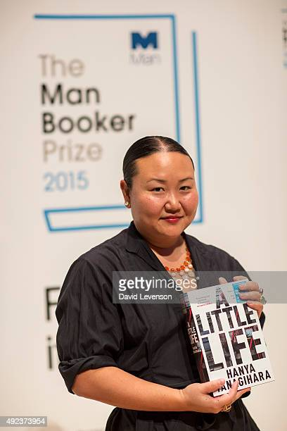 Hanya Yanagihara author of A Little Life at a Photocall for the Man Booker Prize 2015 Shortlisted Authors at the Royal Festival Hall on October 12...