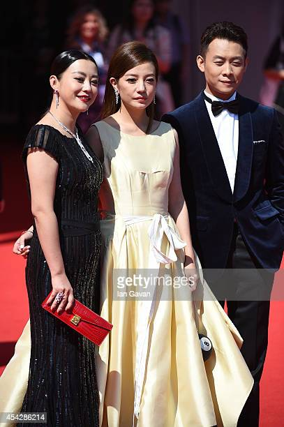 Hao Lei Zhao Wei and Zhang Yi attend the Dearest premiere during the 71st Venice Film Festival on August 28 2014 in Venice Italy