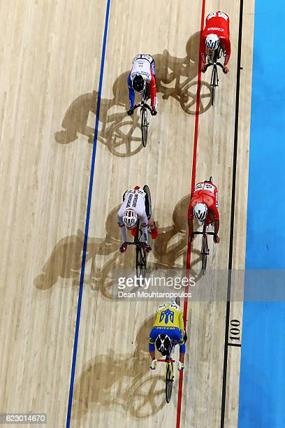 Hao Liu of China Chen Chien Liang of Taiwan Maximilian Beyer of Germany Leung Chun Wing of Hong Kong and Roman Gladysh is a Ukraine compete in the...