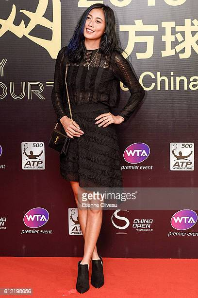 HaoChing Chan of Taipei arrives at the 2016 China Open Player Party at The Birds Nest on October 3 2016 in Beijing China