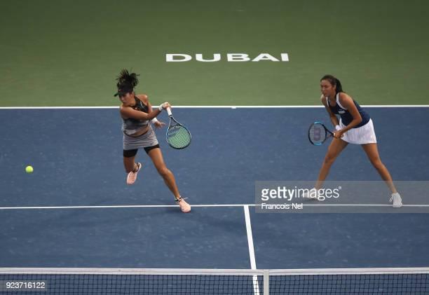 HaoChing Chan of Taiwan and Zhaoxuan Yang of China in action against SuWei Hsieh of Taiwan and Shuai Peng of China in the Women's Doubles Final match...