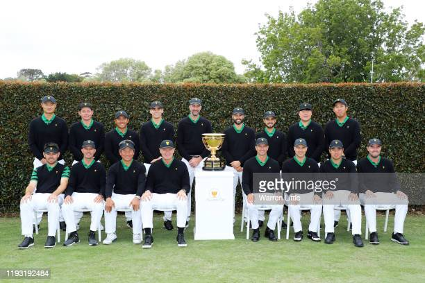 Haotong Li of China Cameron Smith of Australia CT Pan of Taiwan Joaquin Niemann of Chile Assistant Captain Geoff Ogilvy of Australia Adam Hadwin of...