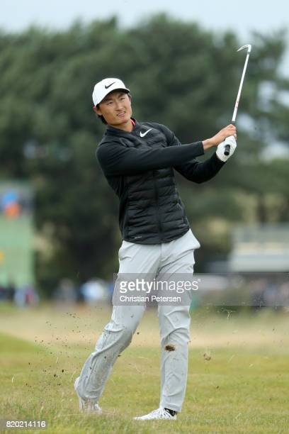 Haotong Li of China in action during the second round of the 146th Open Championship at Royal Birkdale on July 21 2017 in Southport England