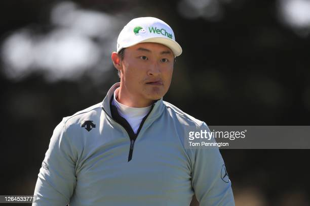 Haotong Li of China looks on from the 12th tee during the second round of the 2020 PGA Championship at TPC Harding Park on August 07, 2020 in San...